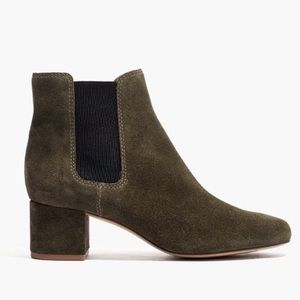 Madewell Walker Kale Green Chelsea Ankle Boots